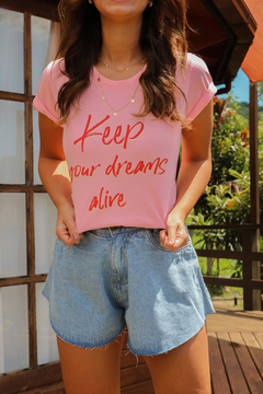 T-SHIRT KEEP YOUR DREAMS ROSA MARY na internet