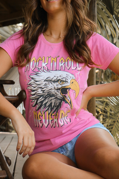 T-SHIRT EAGLE ROCK ROSA BEGÔNIA - buy online