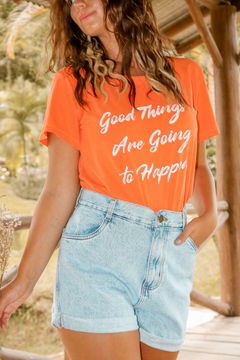 T-SHIRT GOOD THINGS LARANJA VIBRANT na internet