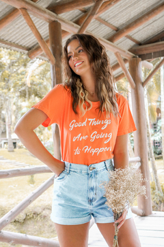 T-SHIRT GOOD THINGS LARANJA VIBRANT - comprar online