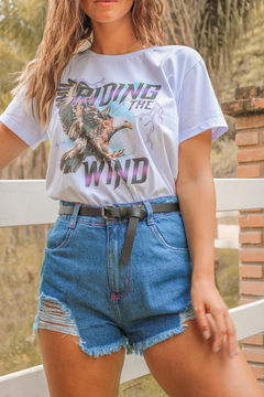 T-SHIRT RIDING THE WIND BRANCO - buy online