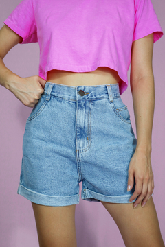 SHORTS MOM JEANS CLARO - online store