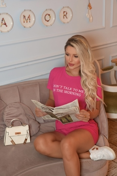 T-SHIRT DON'T TALK PINK