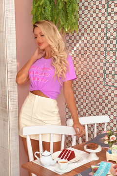 T-SHIRT HONEY ROXO NEON - comprar online