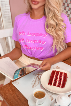T-SHIRT HONEY ROXO NEON en internet