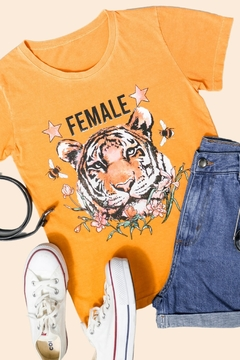 T-SHIRT FEMALE LARANJA MANGOLD