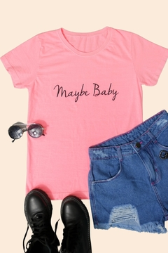 T-SHIRT MAYBE BABY ROSA BABALOO
