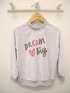 BUZO PLUSH DREAM BIG ESTAMPADO