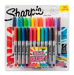 Pack 24 marcadores SHARPIE ULTRAFINO Colorburst display