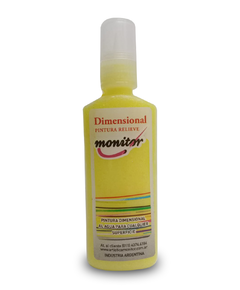 Dimensional Pintura Relieve Monitor 40cc Amarillo Brillante