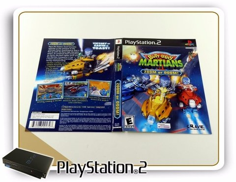 Ps2 Encarte Butt-uggly Martians Zoom Or Doom Original