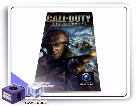 Manual Call Of Duty Finest Hour Original Gamecube