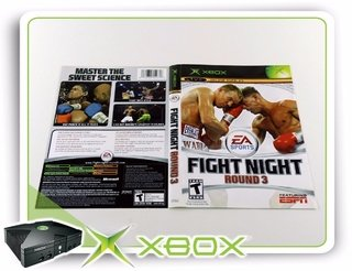 Encarte Fight Night Round 3 Original Xbox Clássico