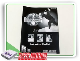 Manual Brunswick World Tournament Original Super Nintendo