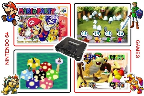 Imagem do Kit Mario Party 1 2 3 Nintendo 64 N64 - Novo Salvando