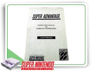 Manual Controle Super Advantage Super Nintendo Original