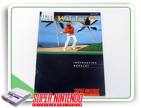 Manual True Golf Waialae Country Club Snes Super Nintendo
