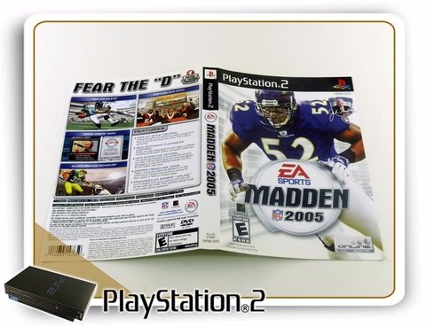 Encarte E Manual Madden Nfl 2005 Original Playstation 2 Ps2