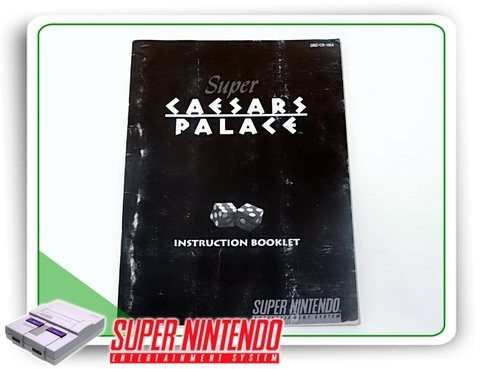 Manual Super Caesars Palace Snes Super Nintendo Original
