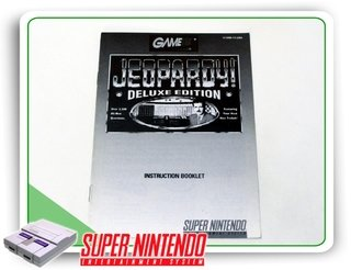 Manual Jeopardy Deluxe Edition Snes Super Nintendo Original