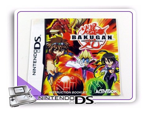Manual Bakugan Battle Brawlers Ds Original Nintendo Ds
