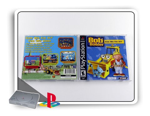 Bob The Builder Can We Fix It Original Playstation 1 Ps1 na internet