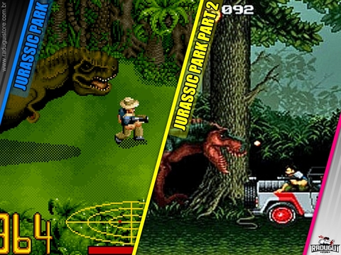 Jurassic Park Collection - 1 E 2 Super Nintendo Snes - loja online