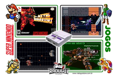Metal Warriors Super Nintendo Snes, Completo Novo na internet