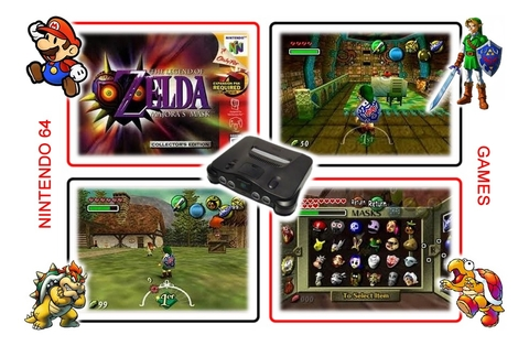 Imagem do The Legend Of Zelda Majoras Mask Nintendo 64 Novo Salvando