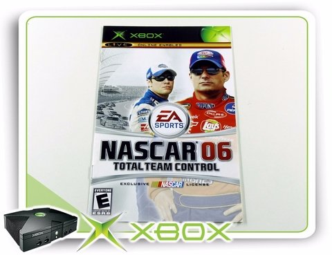 Manual Nascar 06 Total Team Control Original Xbox Clássico