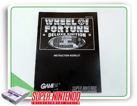 Manual Wheel Of Fortune Deluxe Original Snes Super Nintendo