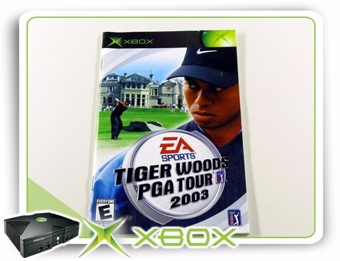 Manual Tiger Woods Pga Tour 2003 Original Xbox Clássico