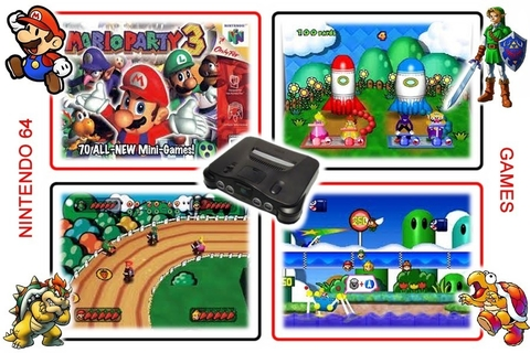 Kit Mario Party 1 2 3 Nintendo 64 N64 - Novo Salvando - comprar online