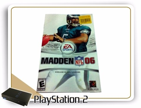 Manual Madden Nfl 06 Original Playstation 2 PS2