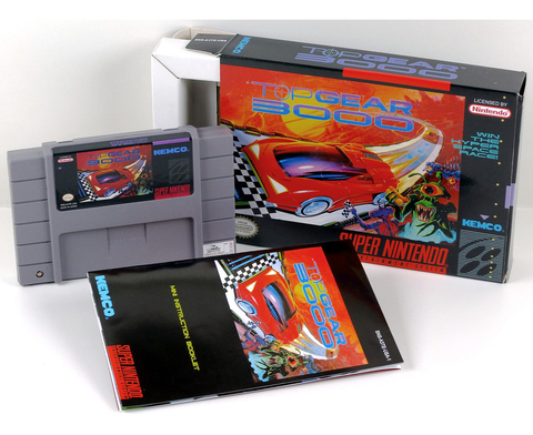 Top Gear 3000 Super Nintendo Snes, Completo Novo