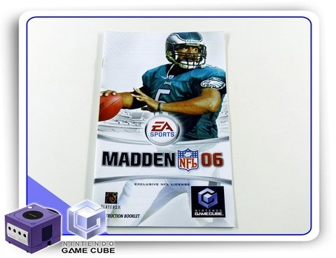 Manual Madden Nfl 06 Original Nintendo Gamecube
