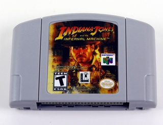 Indiana Jones Infernal Machine Nintendo 64 N64 Novo Salvando