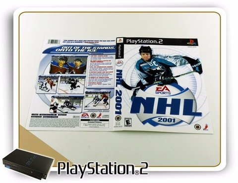 Encarte Nhl 2001 Original Playstation 2 PS2