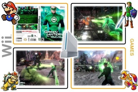 Green Lantern Rise Of The Manhunters Original Nintendo Wii - loja online