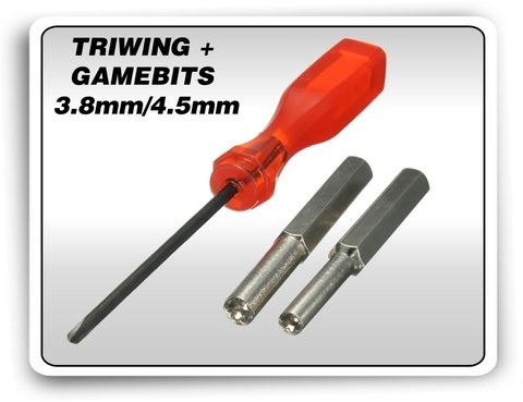 Kit Chaves Gamebit 3.8mm + 4.5mm + Triwing 3ds Ds Snes N64