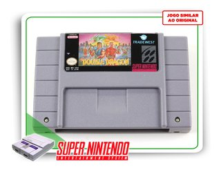 Super Double Dragon Super Nintendo Snes - Novo