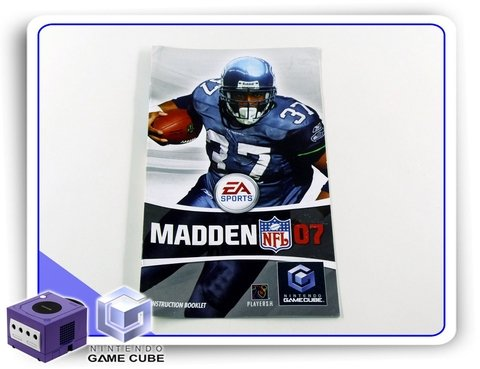 Manual Madden Nfl 07 Original Nintendo Gamecube