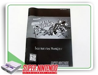 Manual Aaahh Real Monsters Original Super Nintendo Snes
