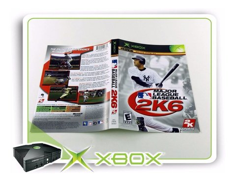 Encarte Major League Baseball 2k6 Original Xbox Clássico