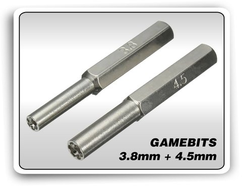 Kit Chaves Gamebit 3.8mm + 4.5mm + Triwing 3ds Ds Snes N64 na internet