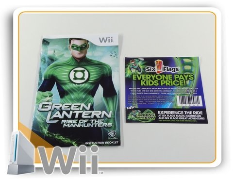 Green Lantern Rise Of The Manhunters Original Nintendo Wii - Radugui Store