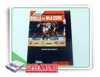 Manual Bulls Vs Blazers Original Super Nintendo Snes