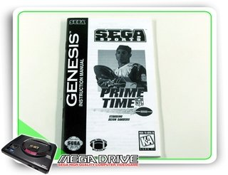 Manual Prime Time Nfl Original Sega Mega Drive / Genesis