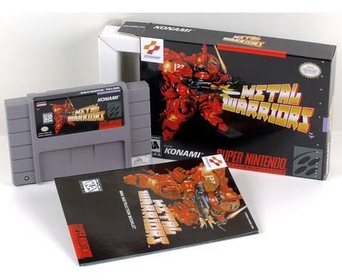 Metal Warriors Super Nintendo Snes, Completo Novo