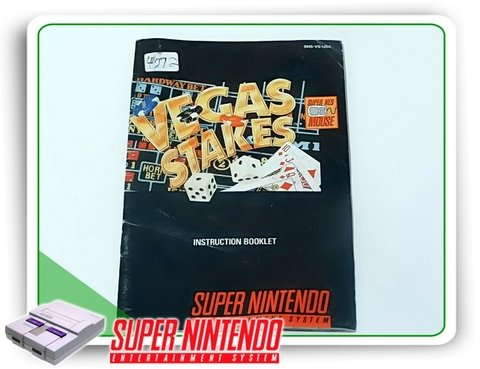 Manual Vegas Stakes Super Nintendo Snes Original